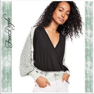 NWT Free People Auxton Wrap Thermal Top